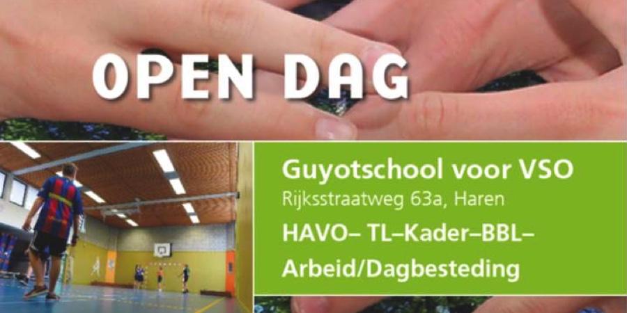 Open dag Guyotschool voor VSO in Haren